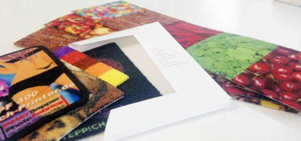 Mustermappe | Teppich Printer, Teppich Druck & Schmutzfang-Matten